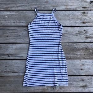 LA Hearts White & Black Stripped Bodycon Dress